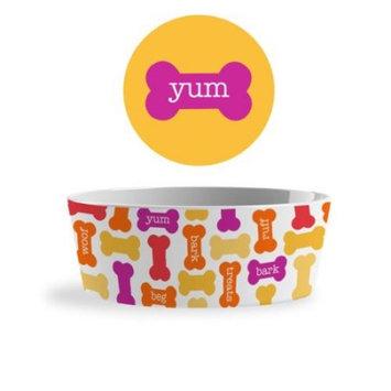 Melamine Assorted Color Pet Bowl, Medium