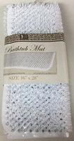 Brown's Linens And Window Coverings Anti Slip Vinyl Straw Grass Massage Bathtub Mat - White