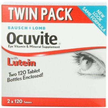 Bausch + Lomb Ocuvite Eye Vitamin & Mineral Supplement with Lutein 120 Tablets 2 Pack