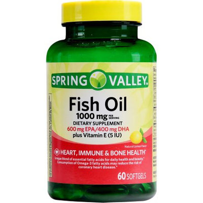 Spring Valley Fish Oil Dietary Supplement, 60ct
