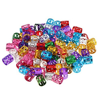 Dovewill Lots 150 Pieces Colorful Dreadlock Hair Beads Dread Hair Braid Pins Rings Clips DIY Cuff Jewelry for Hair Extensions