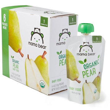 Amazon Brand - Mama Bear Organic Baby Food, Stage 1, Pear, 4 Ounce Pouch