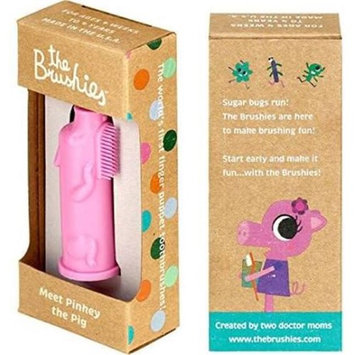 The Brushies BBP111 Baby & Toddler Finger Toothbrush Pinkey the Pig
