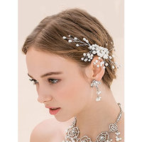 Missgrace Handmade Crystal Bridal Hair Comb Wedding Hair Accessories-Women Wedding Evening Party Headpiece