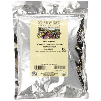 Starwest Botanicals - Bulk Sesame Seed Whole Organic - 1 lb.