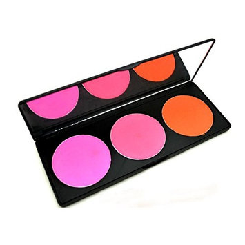 Pure Vie® Professional 3 Colors Cream Blush / Blusher Pressed Face Powder Makeup Palette Contouring Kit - Ideal for Professional as well as Personal Use