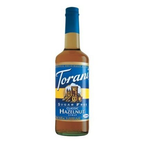 Torani Sugar Free Hazelnut Syrup (1 Single 750 ml bottle)