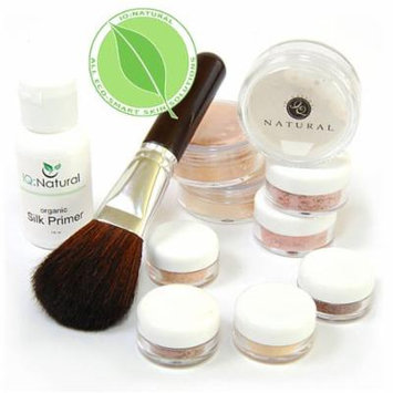 IQ Natural Mineral Makeup Set - 12 Piece Starter Set with Brush [DARK]