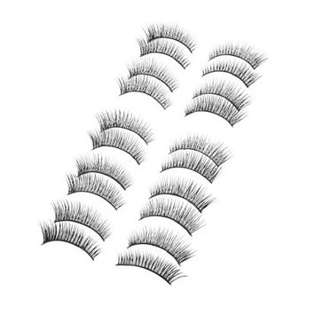 10 Pairs Costume Party Makeup Black Long Curly False Eyelashes for Women