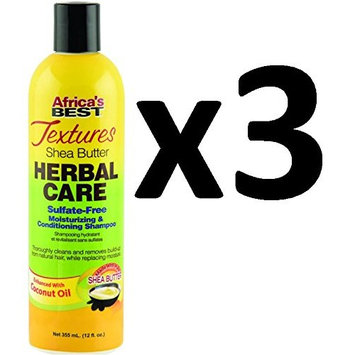 [ VALUE PACK OF 3] AFRICA'S BEST TEXTURES HERBAL CARE SHAMPOO W COCONUT 12oz: Beauty
