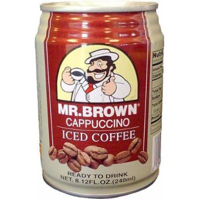 Mr. Brown Iced Coffee, Cappuccino, 8.12-Ounce (Pack of 24)