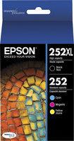 Epson Ultra T252XL-BCS Ultra 252XL/252 Black and CMY Color Cartridges