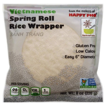 Star Anise 135021 8 oz. Spring Roll Rice Wrapper