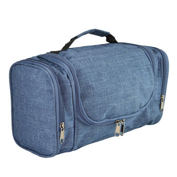 DALIX Travel Toiletry Kit Accessories Bag Shave Cosemetics Hanging Hook in Navy Blue