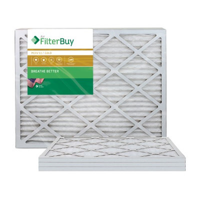 AFB Gold MERV 11 16x36x1 Pleated AC Furnace Air Filter. Filters. 100% produced in the USA. (Pack of 4)