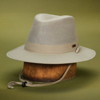 Stetson Outdoor STC197-KAKI2 No Fly Zone Nylon Mesh Safari Hat Khaki - Medium