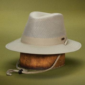 Stetson Outdoor STC197-KAKI2 No Fly Zone Nylon Mesh Safari Hat Khaki - Medium