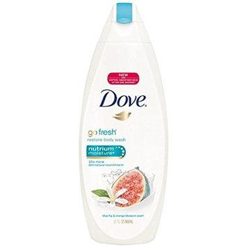 Dove go fresh Restore Body Wash, Blue Fig & Orange Blossom 22 oz (2 Pack)
