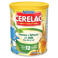 Nestle Cerelac Infant Cereal with Milk From 12 Months Honey & Wheat 14 oz