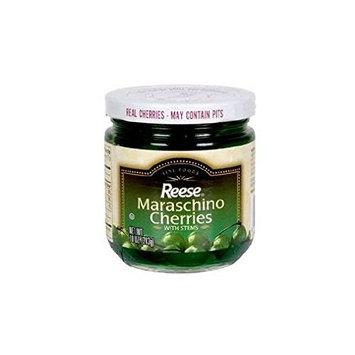 Reese Green Maraschino Cherries (Pack of 2) 10 oz Jars
