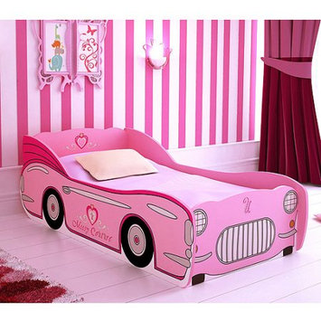 Missy Couture Convertible Car Toddler Bed, Pink, Box 1 of 2
