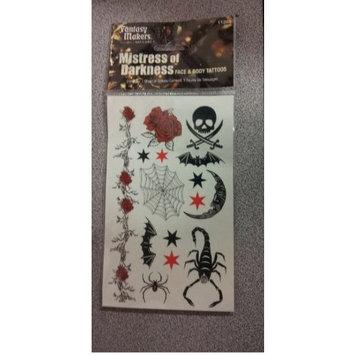 Mistress of Darkness Face & Body Tattoos : Temporary Tattoos : Beauty