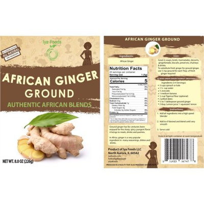 Iya Foods Llc African Ginger Ground â 8oz