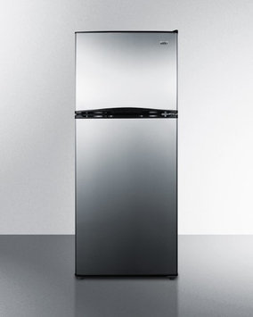Summit 24 Wide Frost-Free Refrigerator-Freezer With Icemaker- Black