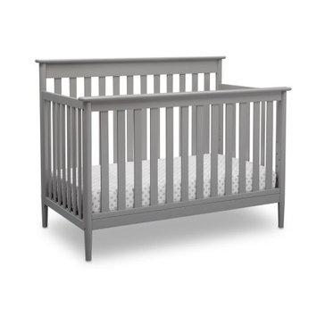 Delta Children Greyson Signature 4-in-1 Convertible Crib, Grey