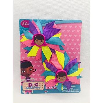 Disney Doc Mcstuffinsr 2 hair clips, Yellow, purple, blue, pink