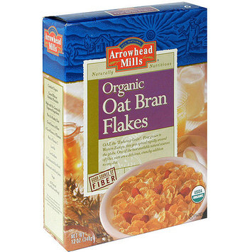Arrowhead Mills Oat Bran Flakes Cereal, 12 oz (Pack of 12)