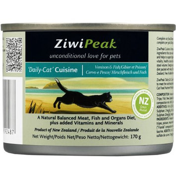 ZiwiPeak Daily-Cat Cuisine Venison & Fish Canned Cat Food 6 oz. (Case of 12)