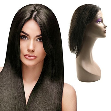 uxcell Human Hair Wigs Straight 18