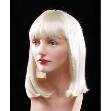 Star Power Flapper Bob with Bangs Short Length Straight Wig, Blonde, One Size
