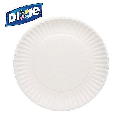 DIXIE 709902WNP9 Paper Plates, Disposable, White, PK250