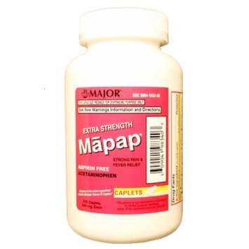 MAJOR MAPAP ES 500MG CPL BOXED ACETAMINOPHEN-500 MG White 500 CAPLETS UPC