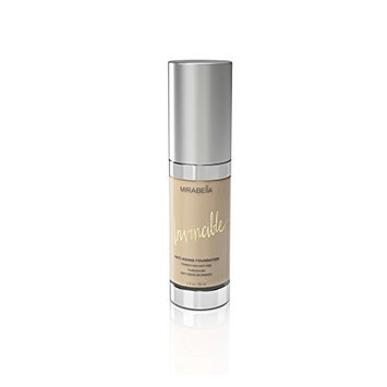 Mirabella Invincible Anti-Aging Full Coverage HD Liquid Foundation - Ivory (I), 1 fl.oz.