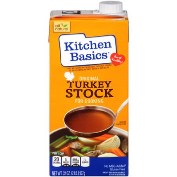 Kitchen Basics Original Turkey Stock, 32 OZ (Pack of 2)