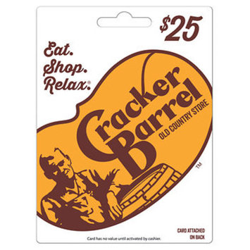 $25 Cracker Barrel Old Country Store Gift Card