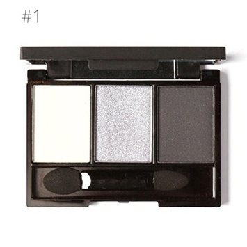 3 Colors Cosmetic Powder Smoky Eyeshadow Palette Makeup Set Matt Available Portable with Mirror