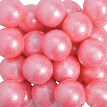 Oriental Trading Company Shimmer Bright Pink Large Gumballs - Solid Color Party Supplies &
