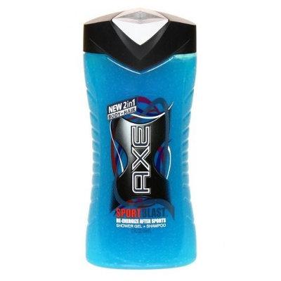 Axe 2-in-1 Shower Gel + Shampoo, Sport Blast, 12 Oz (Pack of 4)