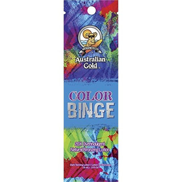 Lot of 5 Color Binge Bronzer Tanning Lotion Packets