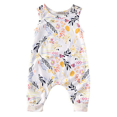 StylesILove Toddler Baby Girl Summer Floral Sleeveless Romper (100/18-24 Months) [baby_clothing_size: baby_clothing_size-18-24months]