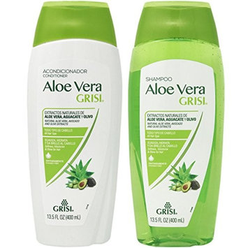 Aloe Vera Shampoo Conditioner Combo by Grisi.. Deep Repair, Multi Nutrition.. 13.5 oz each (2 Pack) ... iwgl