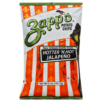 Zapp's New Orleans Kettle Style Hotter 'N Hot Jalapeno Potato Chips - 5 oz