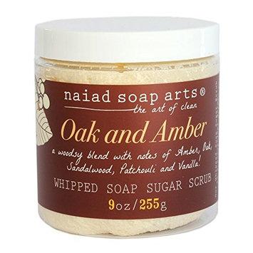 Oak and Amber Whipped Sugar Scrub 9oz by Naiad Soap Arts