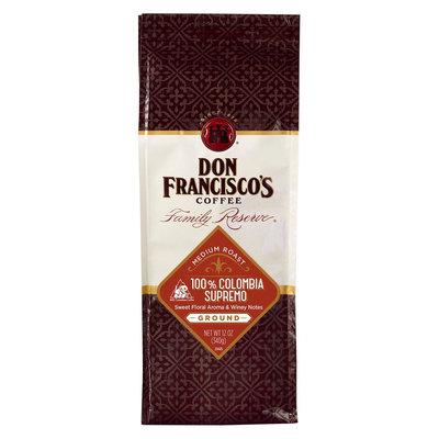 Don Francisco's 100% Colombia Supremo Ground Roast Coffee 12oz