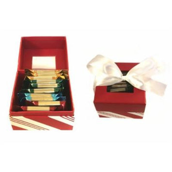 Ghirardelli Chocolate Squares Gift Set, Peppermint Stripe Holiday Box with Bow