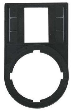 EATON M22S-ST-X Legend Plate, Rectangular, Black
